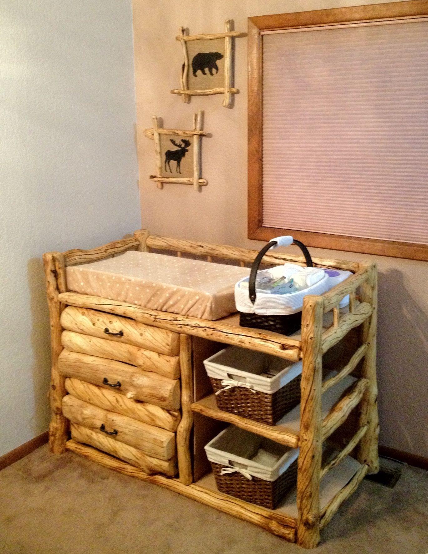 rustic log nursery kids baby room decor pinterest