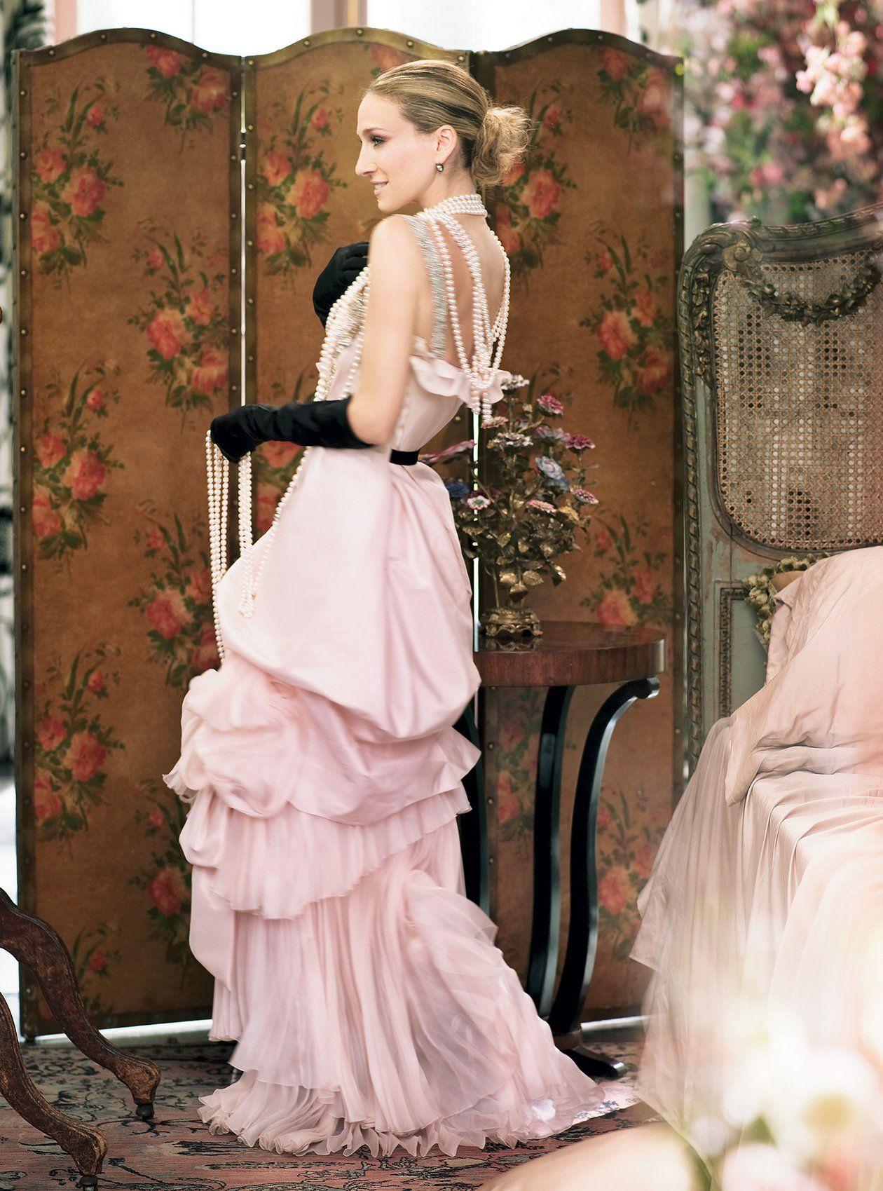 Carrie bradshaw wedding dresses photo shoot