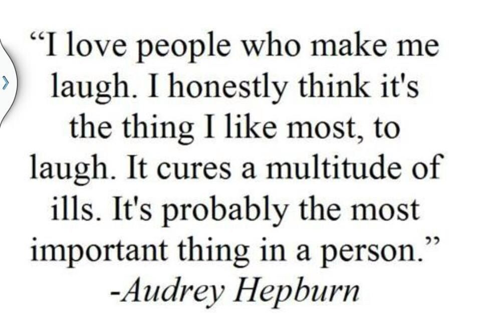 Audrey Hepburn quote on laughter. | words | Pinterest