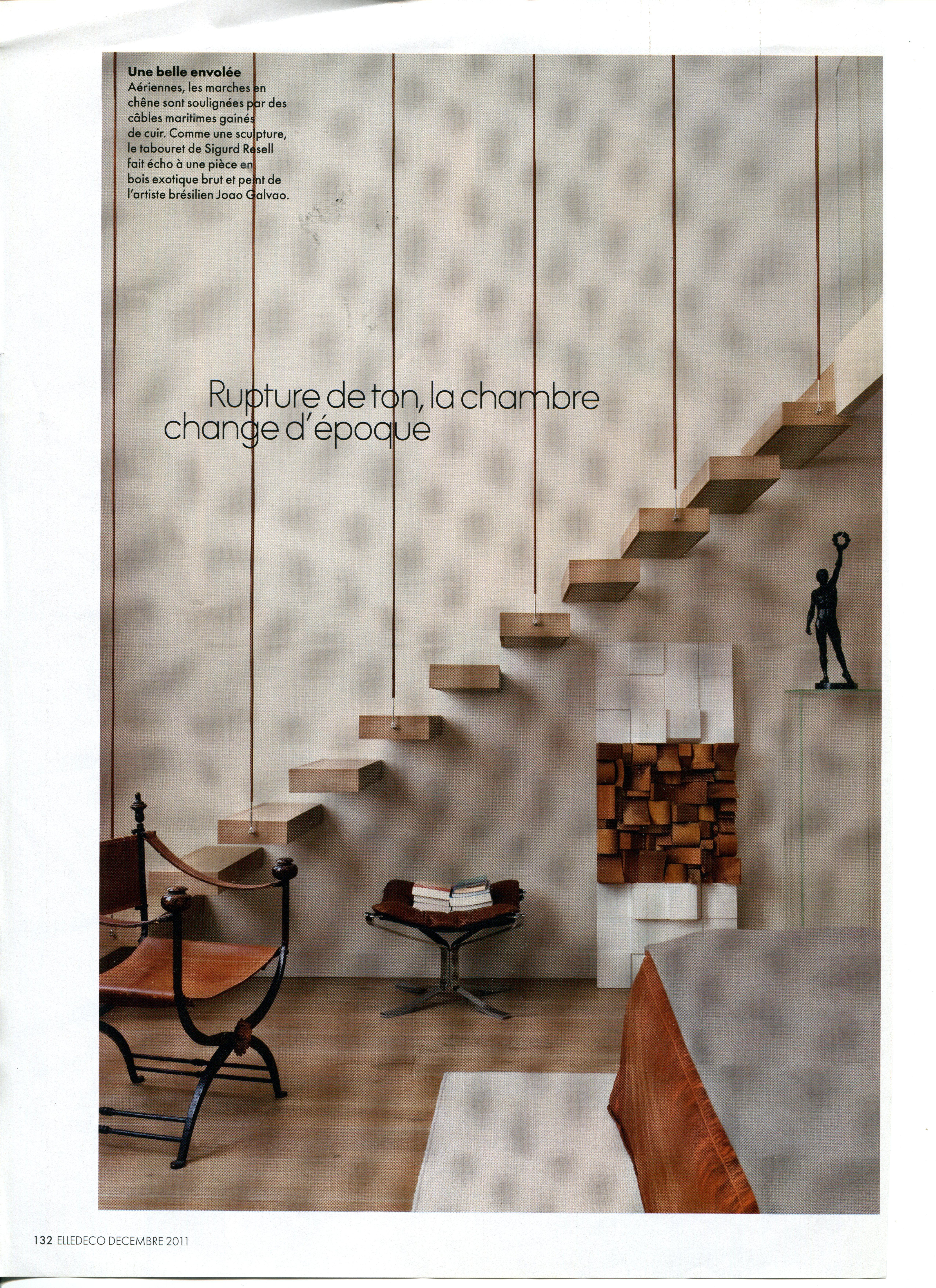 escalier bois rambarde corde decoraci n pinterest. Black Bedroom Furniture Sets. Home Design Ideas
