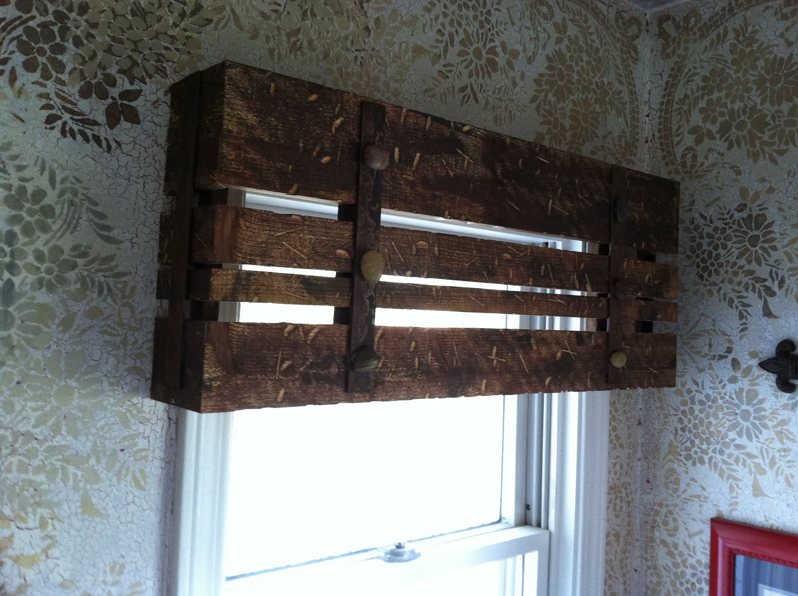 Kitchen window box ideas - Wooden Valance For The Home Pinterest