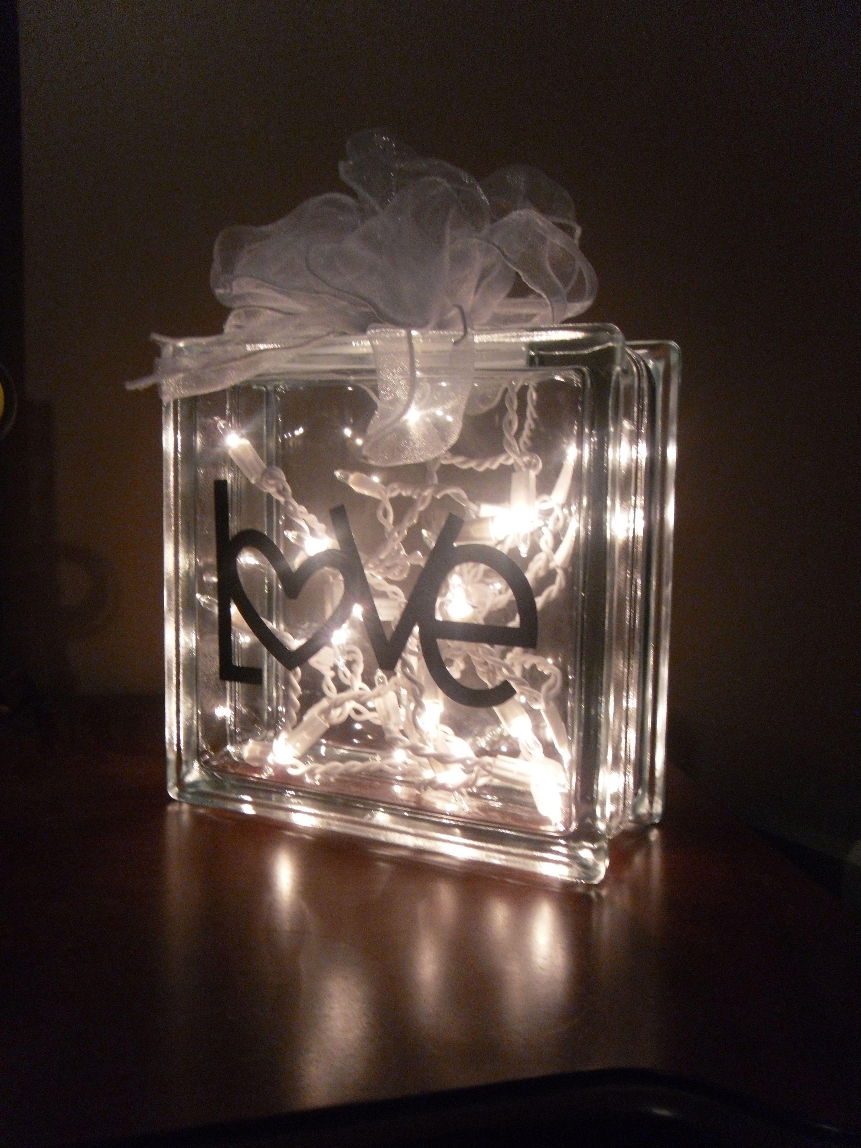 Glass Block Lamp Crafts Pinterest