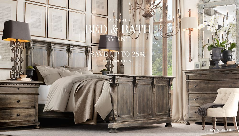 Bedroom Sets Restoration Hardware restoration hardware bedroom st james panel queen bed without