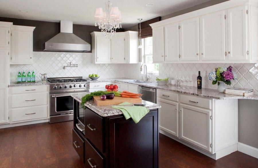 backsplash tile arabesque white homestyle pinterest