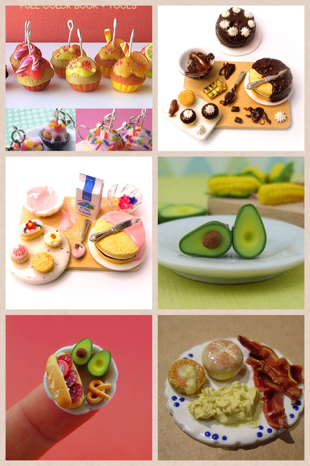 Polymer clay food clay pinterest for Polymere cuisine