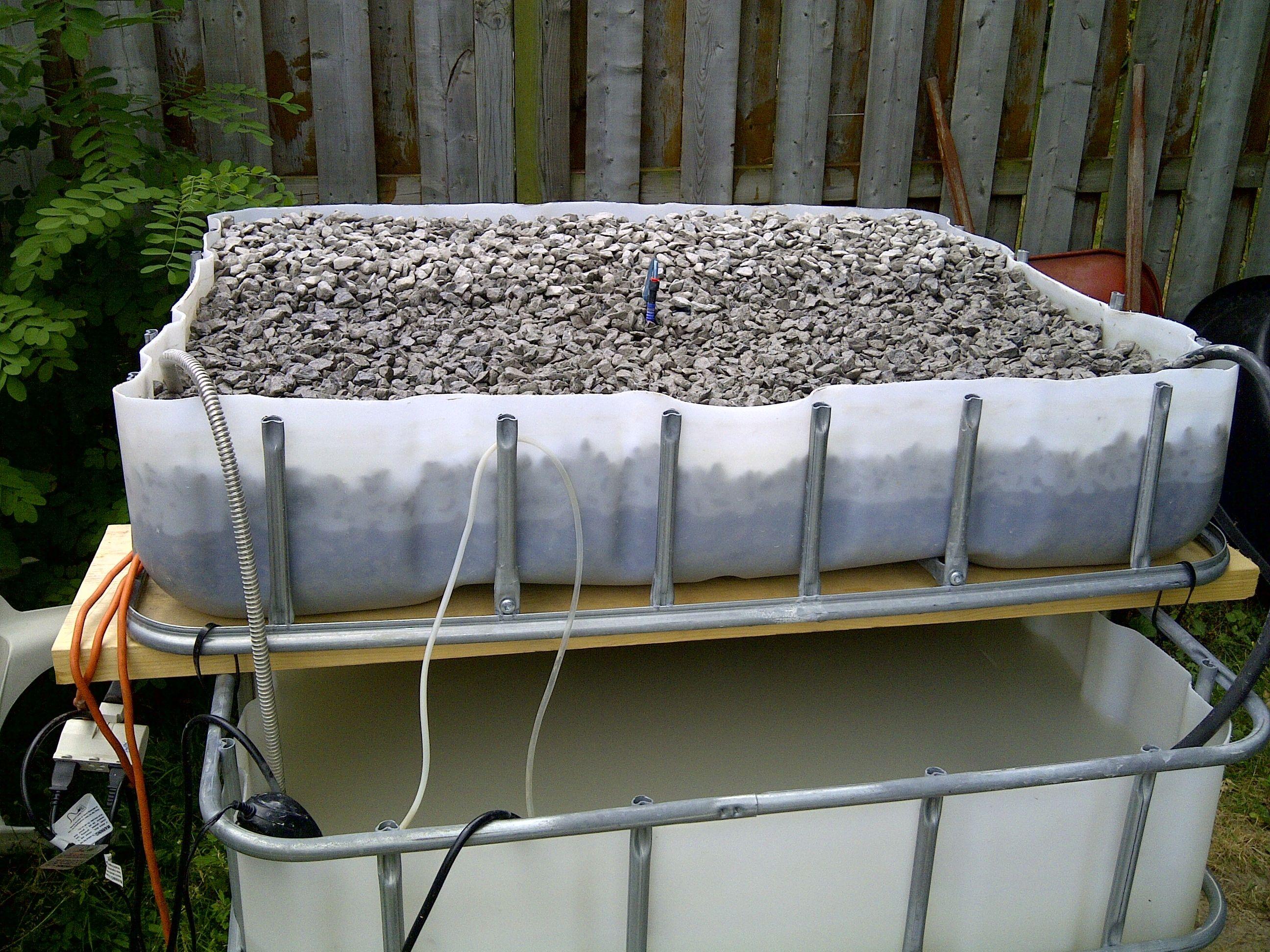 Aquaponics grow beds for Aquaponics grow bed