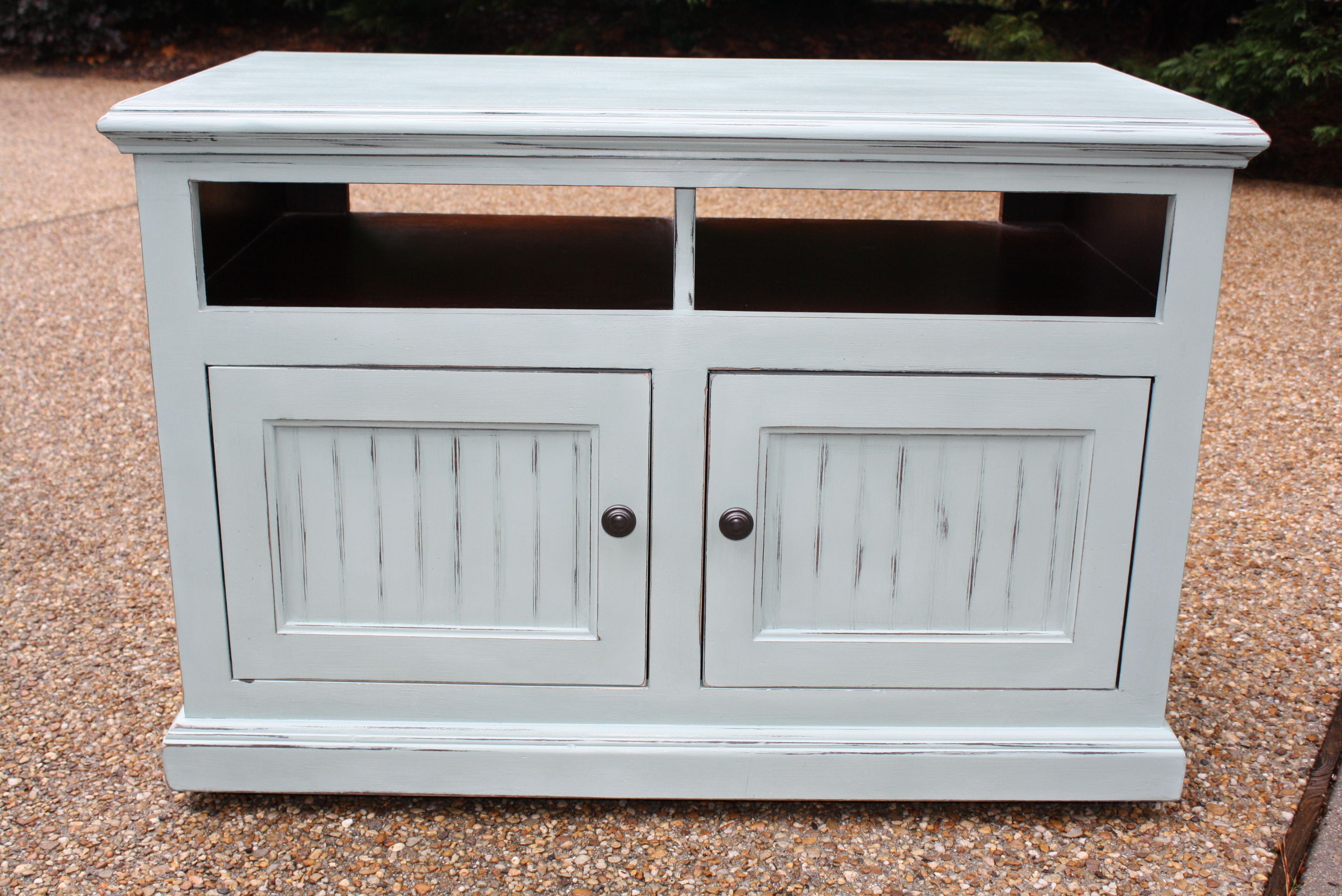 Duck Egg Blue Tv Stand Not Too Shabby My Own Creations