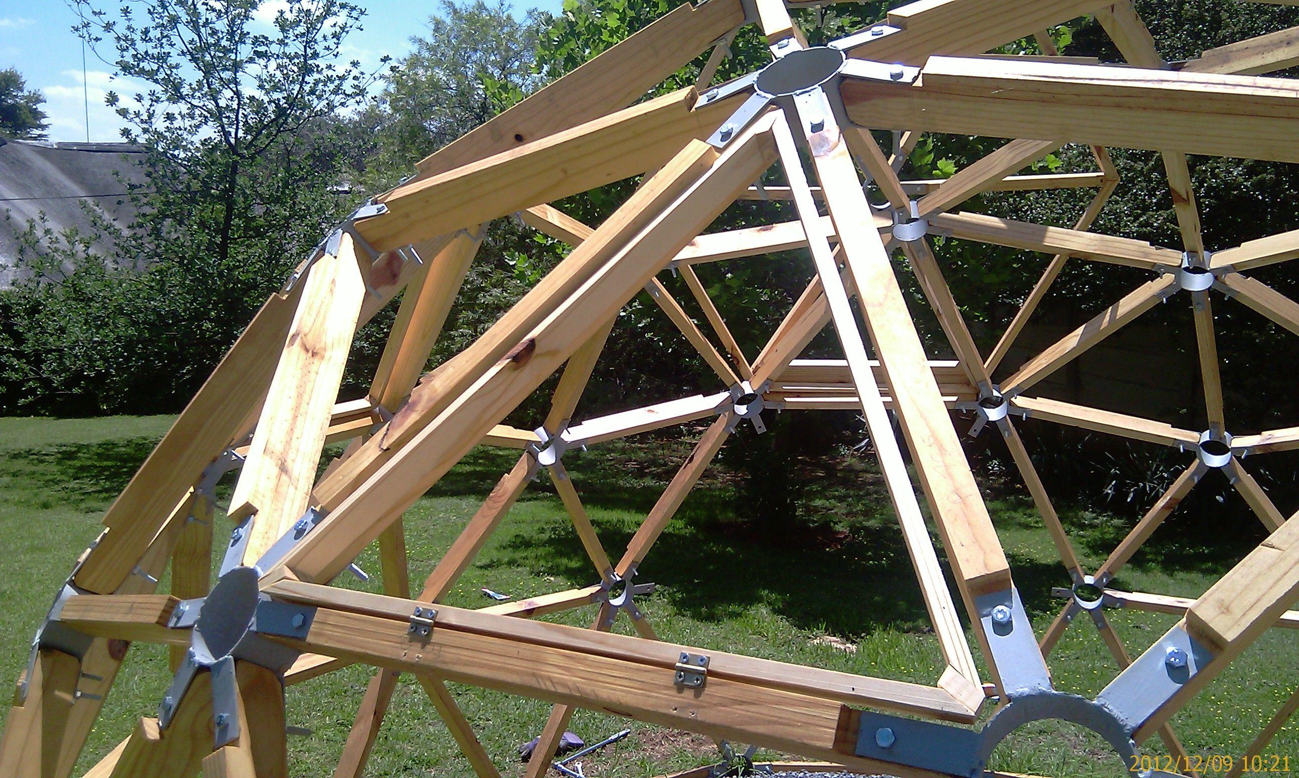 Геодезический сотовый купол своими руками 8