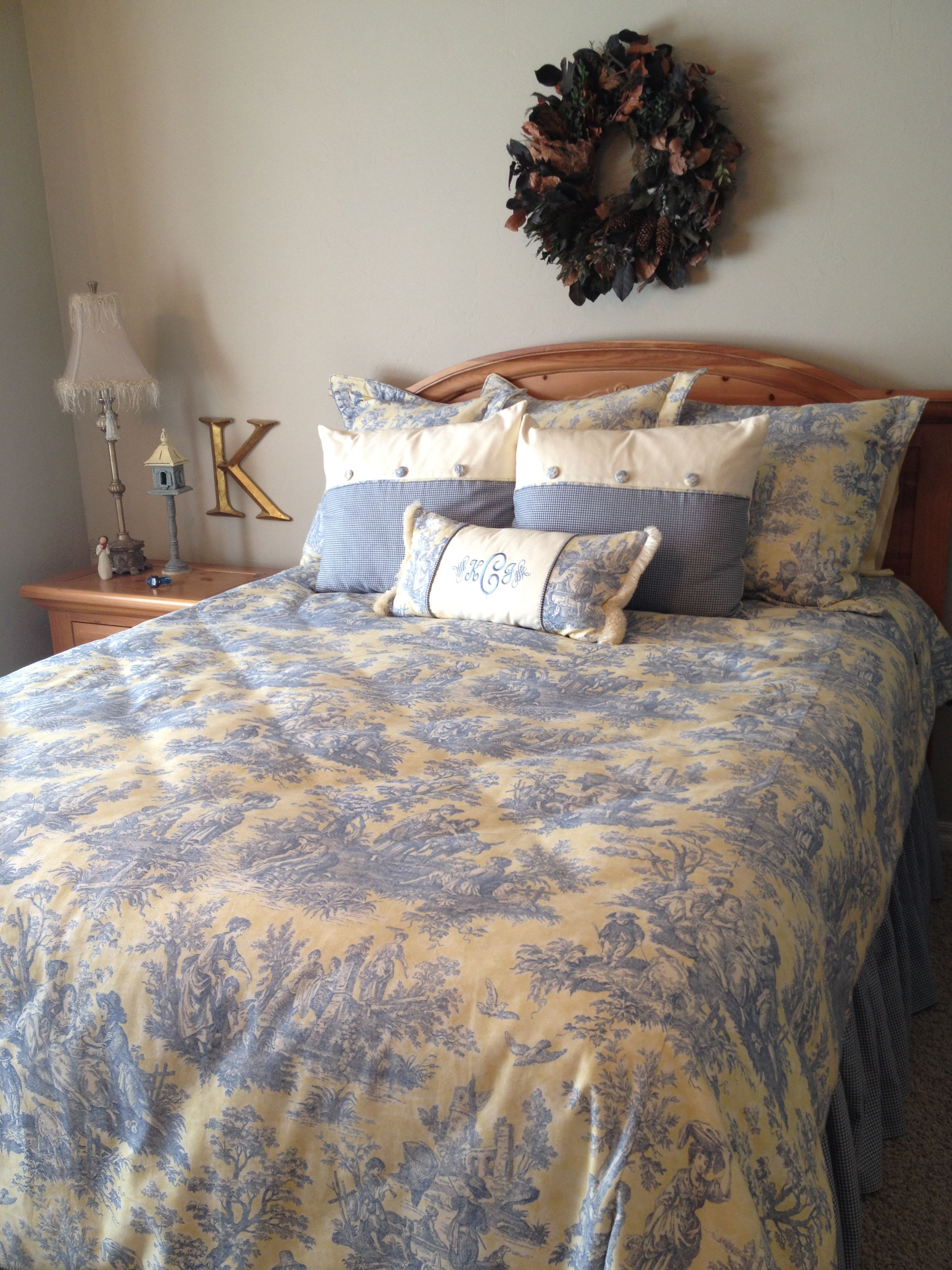 French Country Toile Bedding Home Decor Pinterest