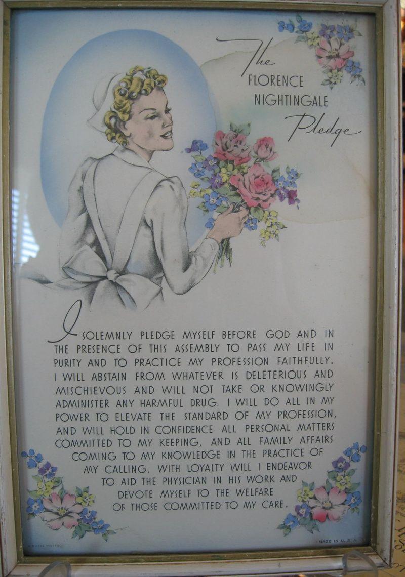 Buzza Motto Nursing Pledge Motto Prints Samplers