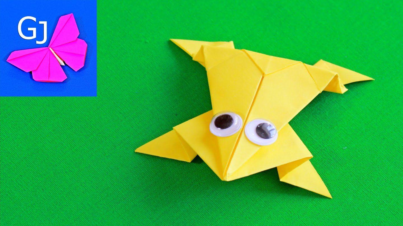 Оригами из бумаги жабка