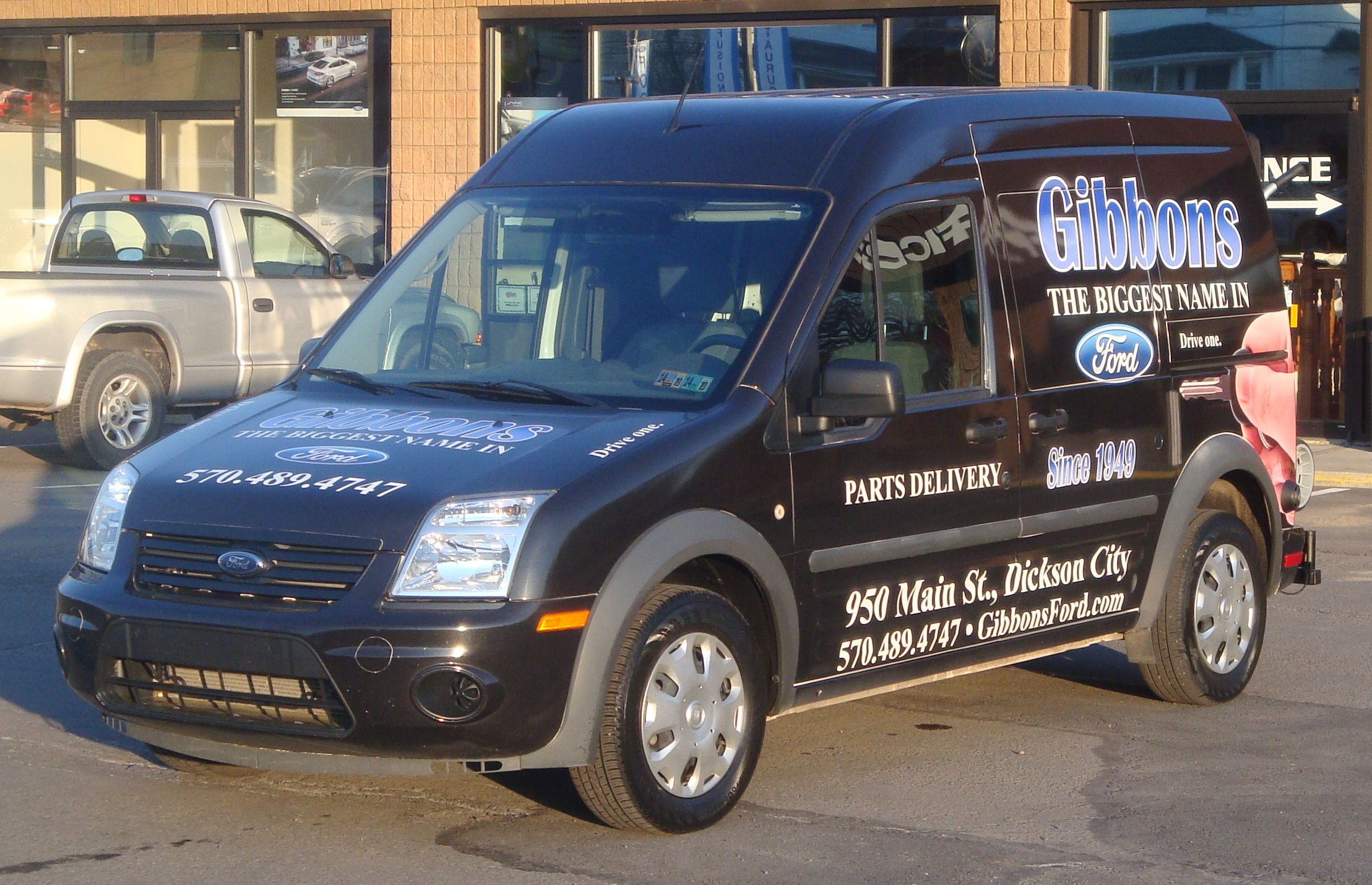 Gibbons ford transit connect parts delivery van with hts systems hts