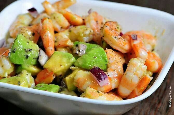 Shrimp avocado salad | Recipes and Entertaining | Pinterest