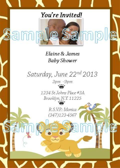 Lion King Invitation with amazing invitation example