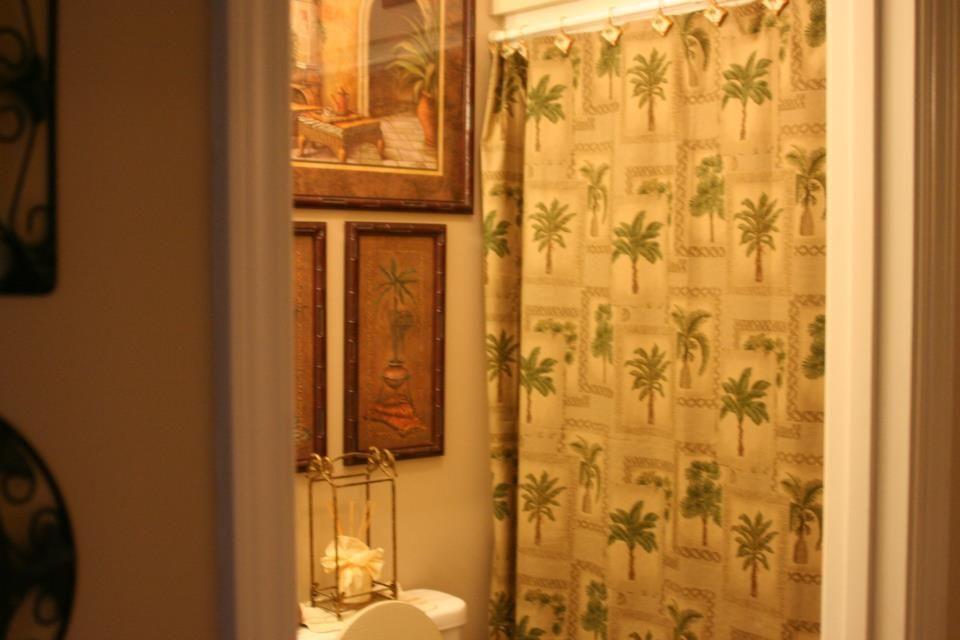 Palm tree bathroom homes amp interior design pinterest