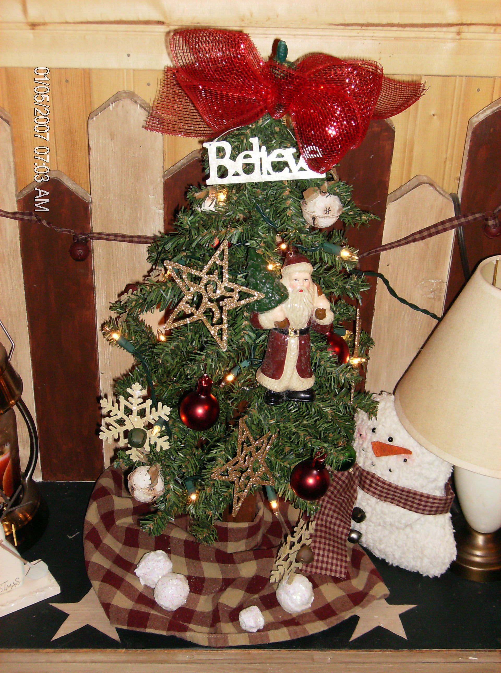 Primitive Christmas Tree Primitive Home Decor Pinterest