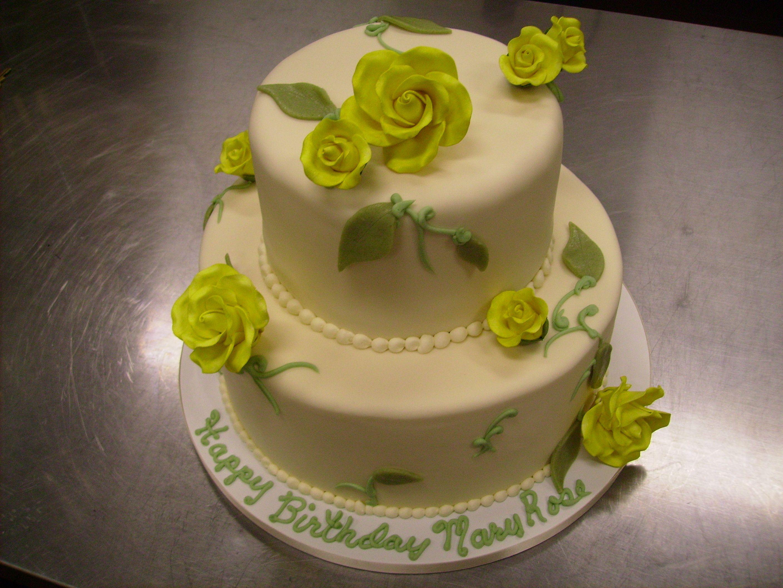 Yellow Rose Birthday Cake   Celebration Cakes   Pinterest