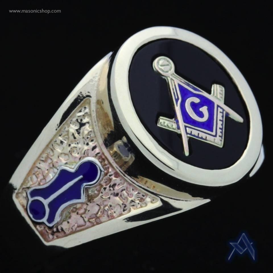 gold plated master ring masonic rings