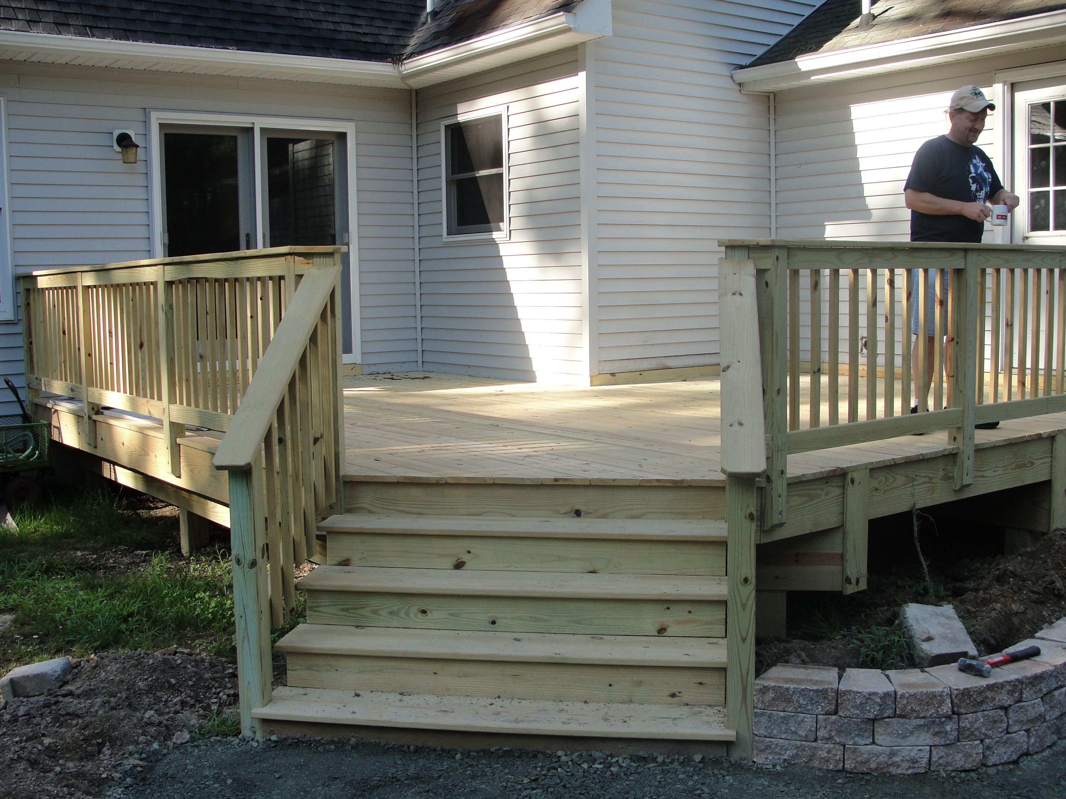 Best Back Deck With Stairs Garden Pinterest 640 x 480