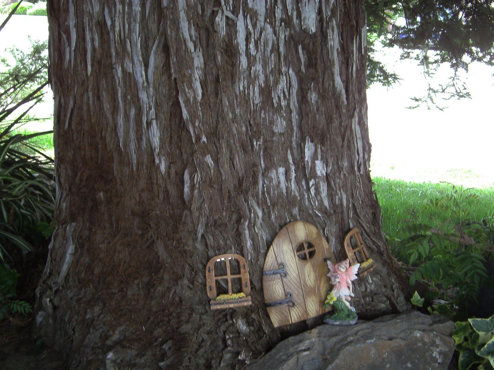 Door And Window In A Tree Fairy Habitats Pinterest