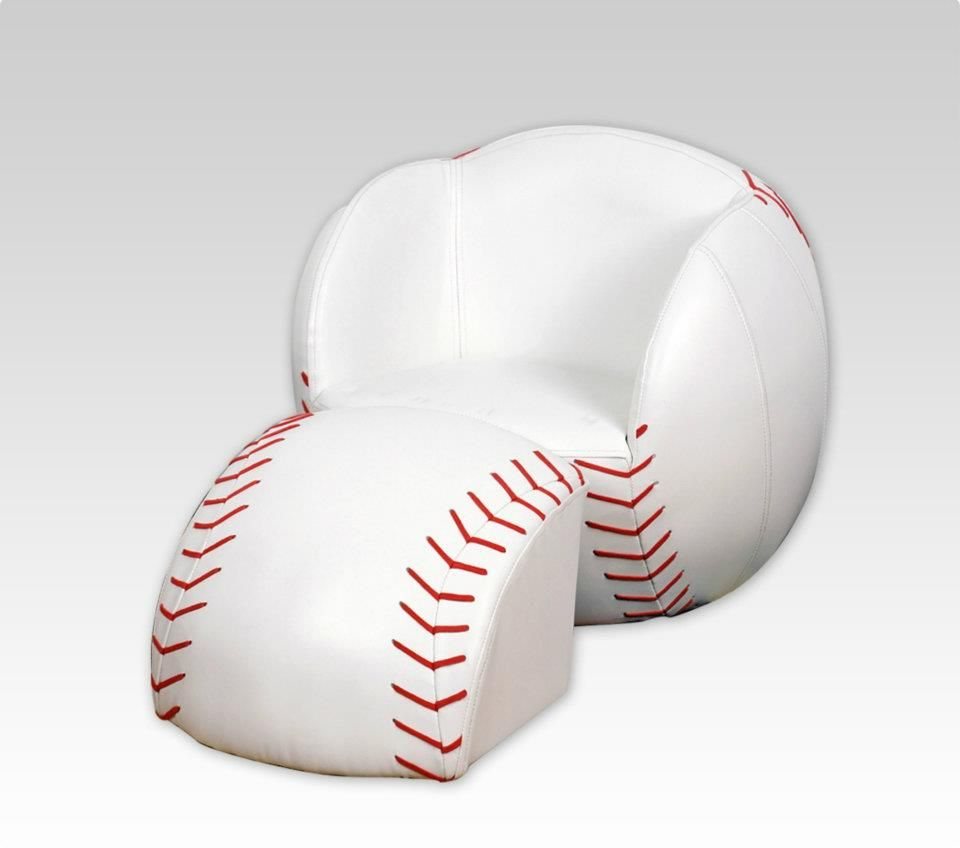 Another baseball chair sofas chairs ottomans pinterest Baseball sofa