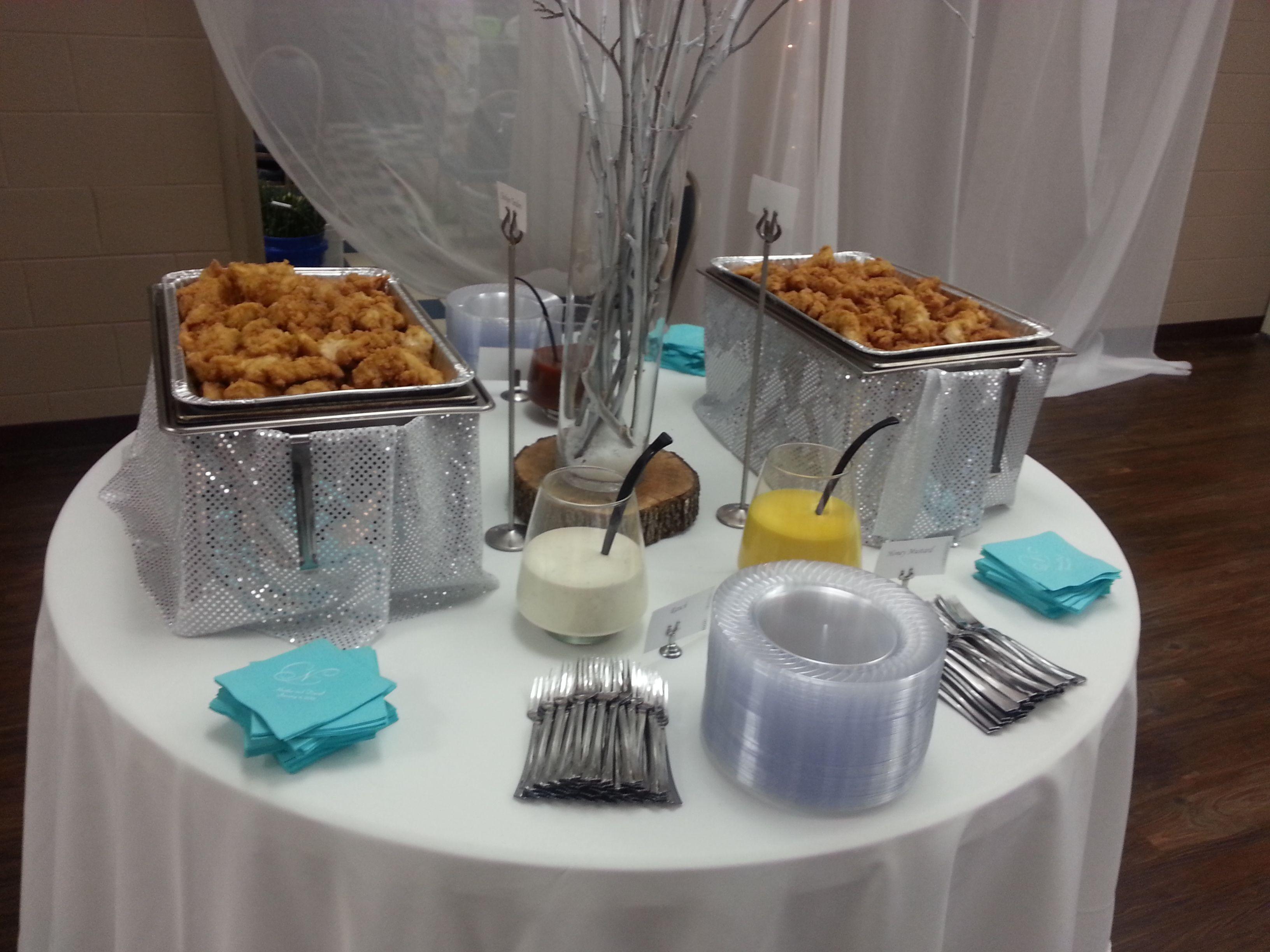 chicken tender station. | Graduation Party Ideas | Pinterest
