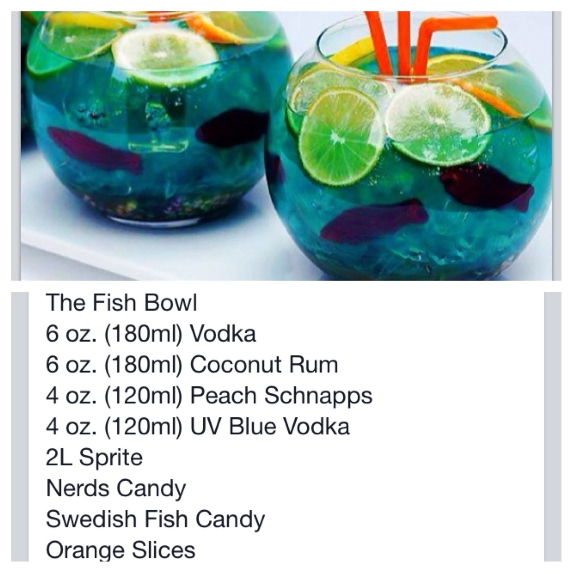 The fish bowl drink recipies and cooking ideas pinterest for Restaurants with fish bowl drinks near me