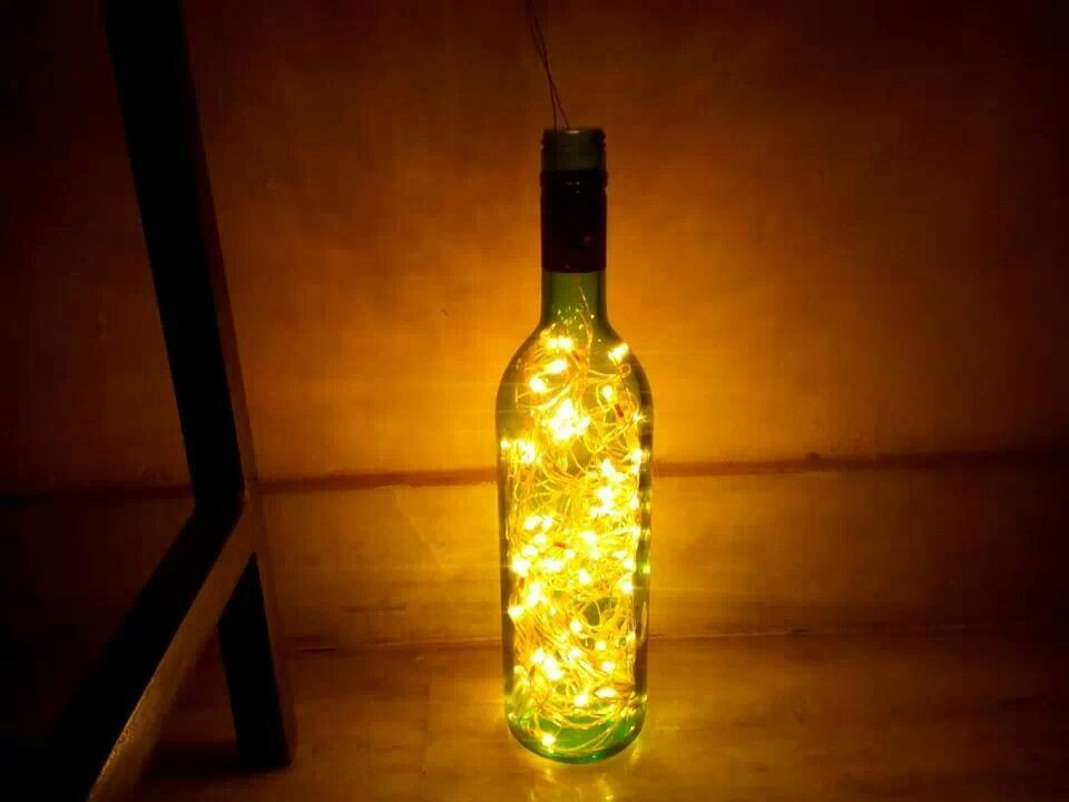 wine bottle night light diy lamps and lights pinterest