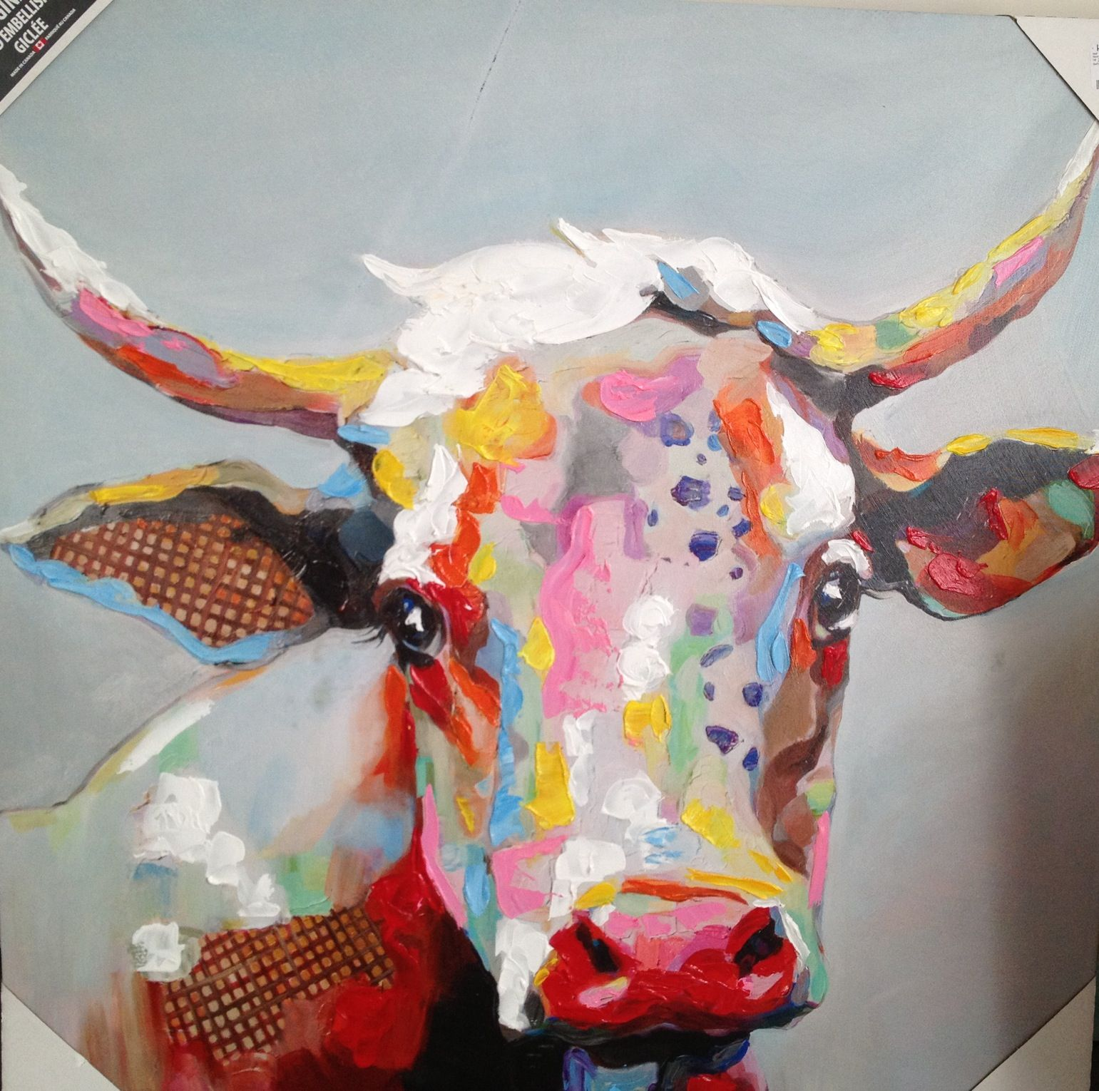 colorful cow painting - 28 images - paintings by theresa ...