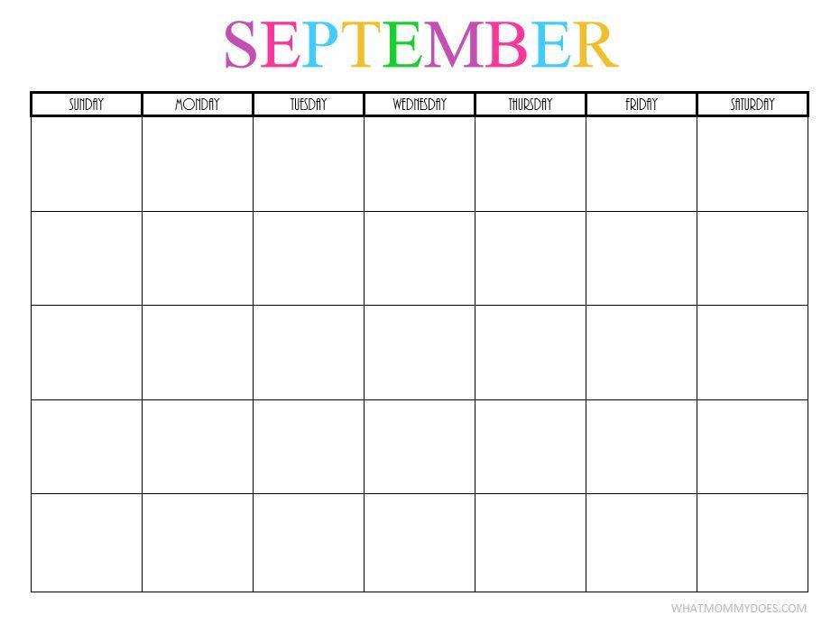 2017 September Calendar Girly – September printable calendars