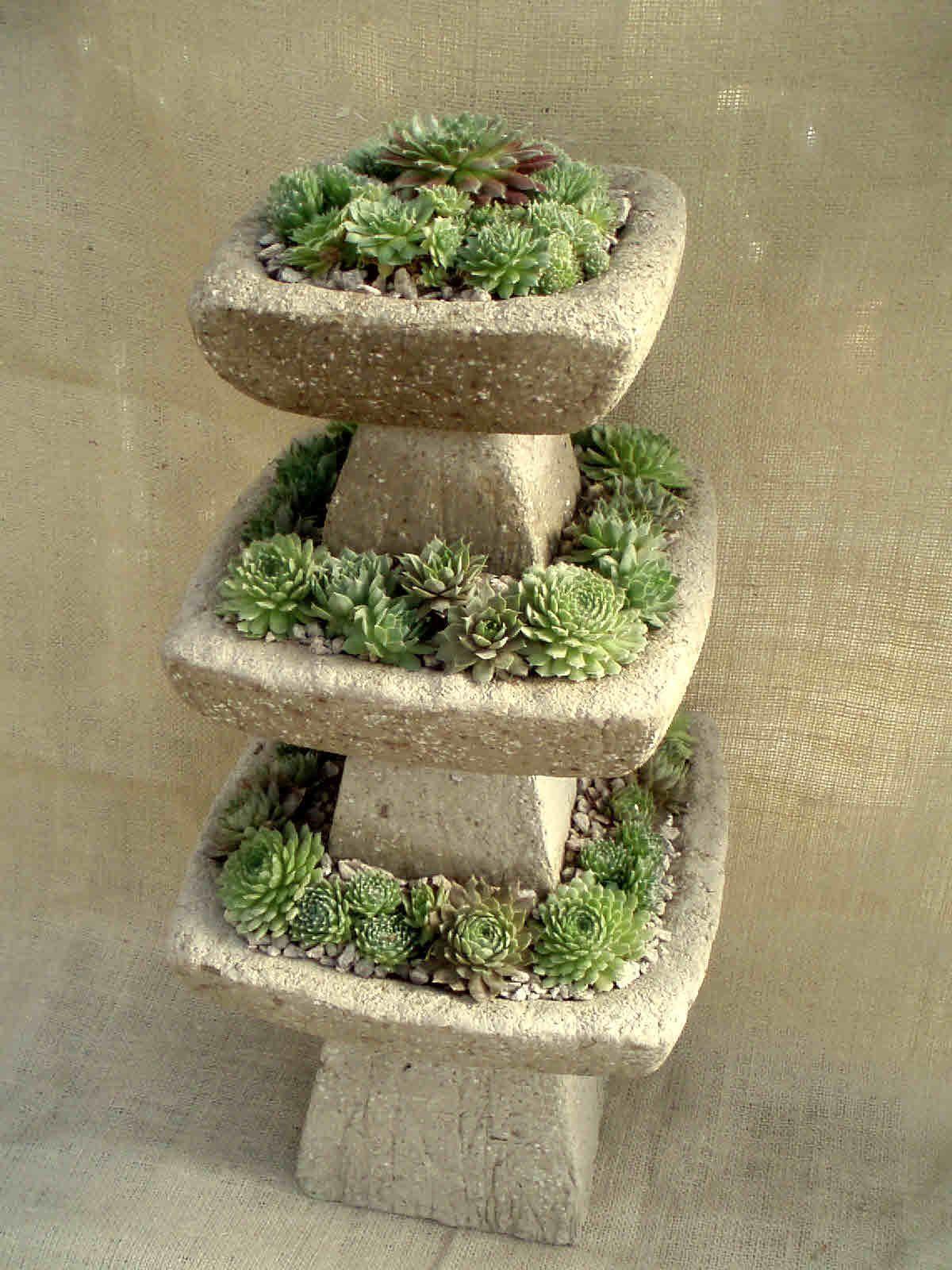 Hypertufa face planter   Captivating Head Planters