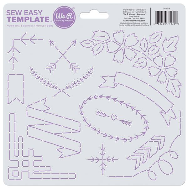 We R Memory Keepers - Sew Easy Template - Flourish, COMING SOON at Scrapbook.com