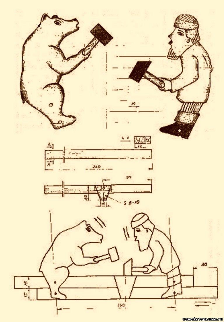 Игрушки из дерева своими руками чертеж