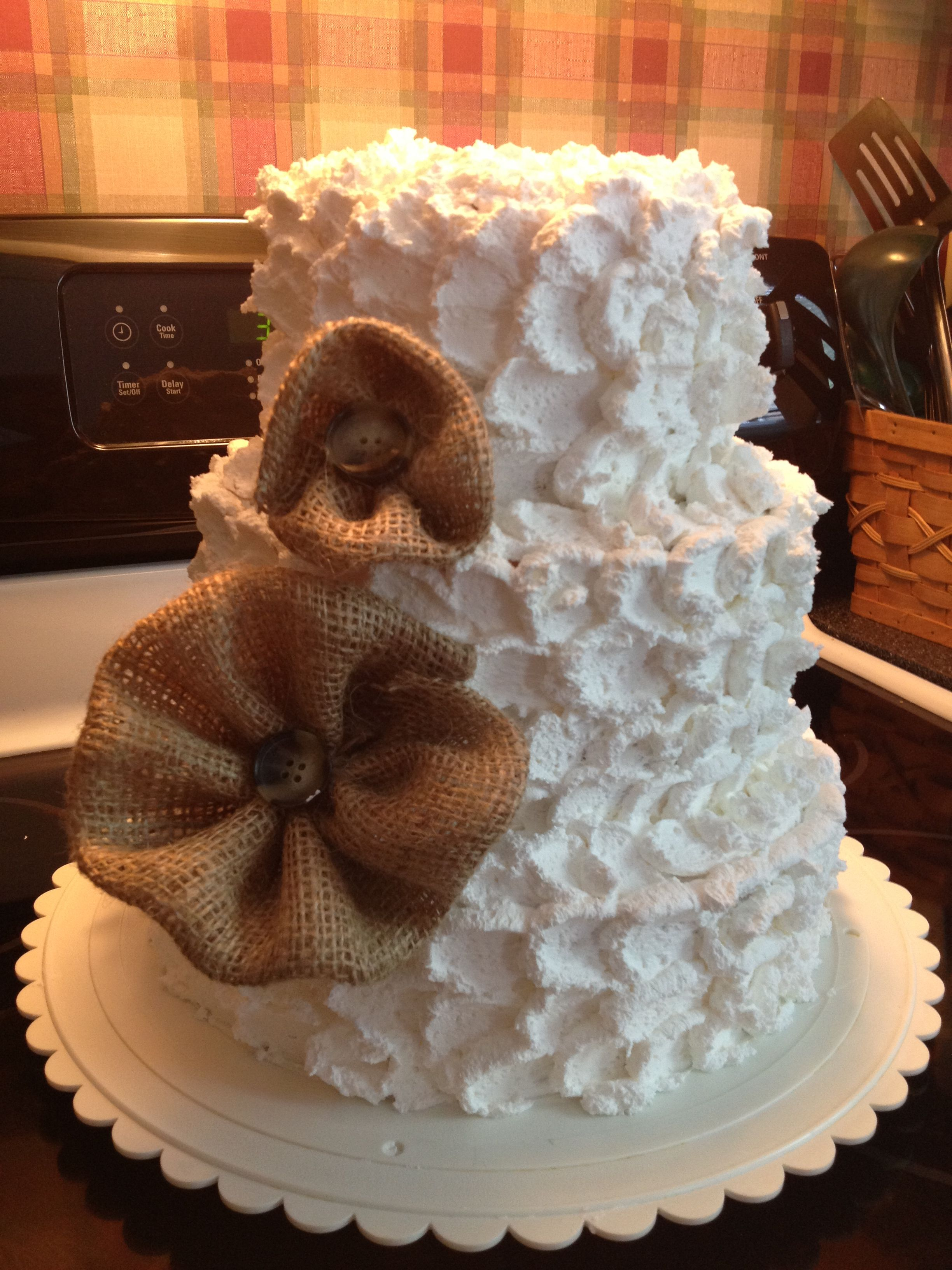 Simple country wedding cake Cakes