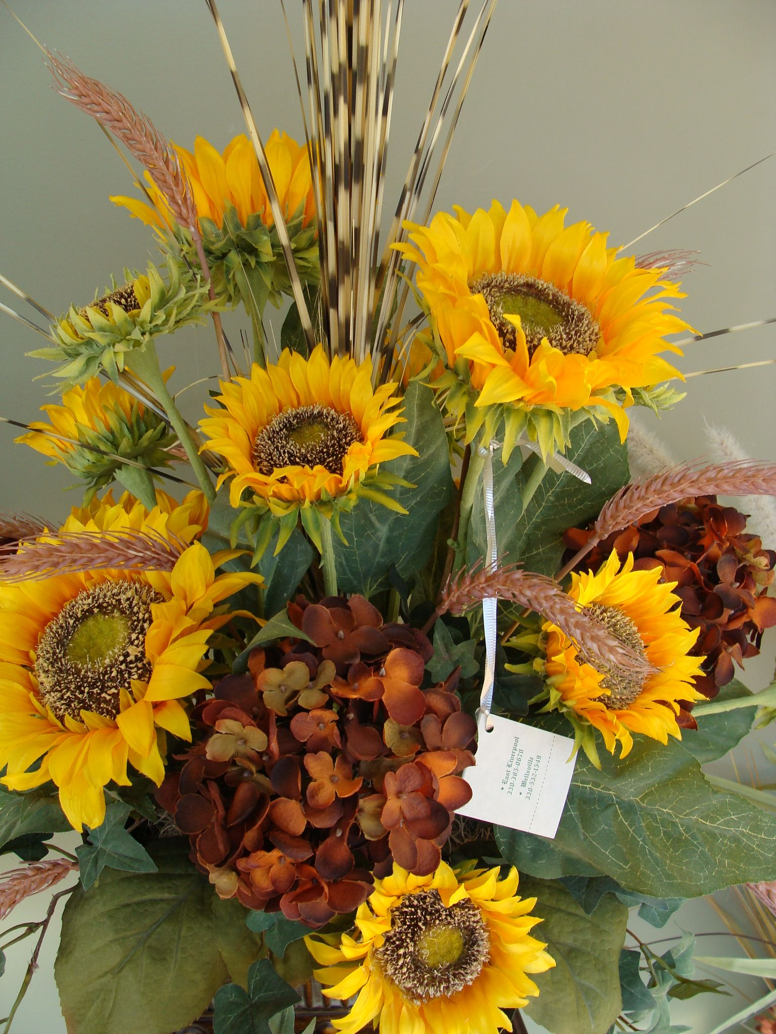 Silk floral arrangement with sunflowers flowerd pinterest