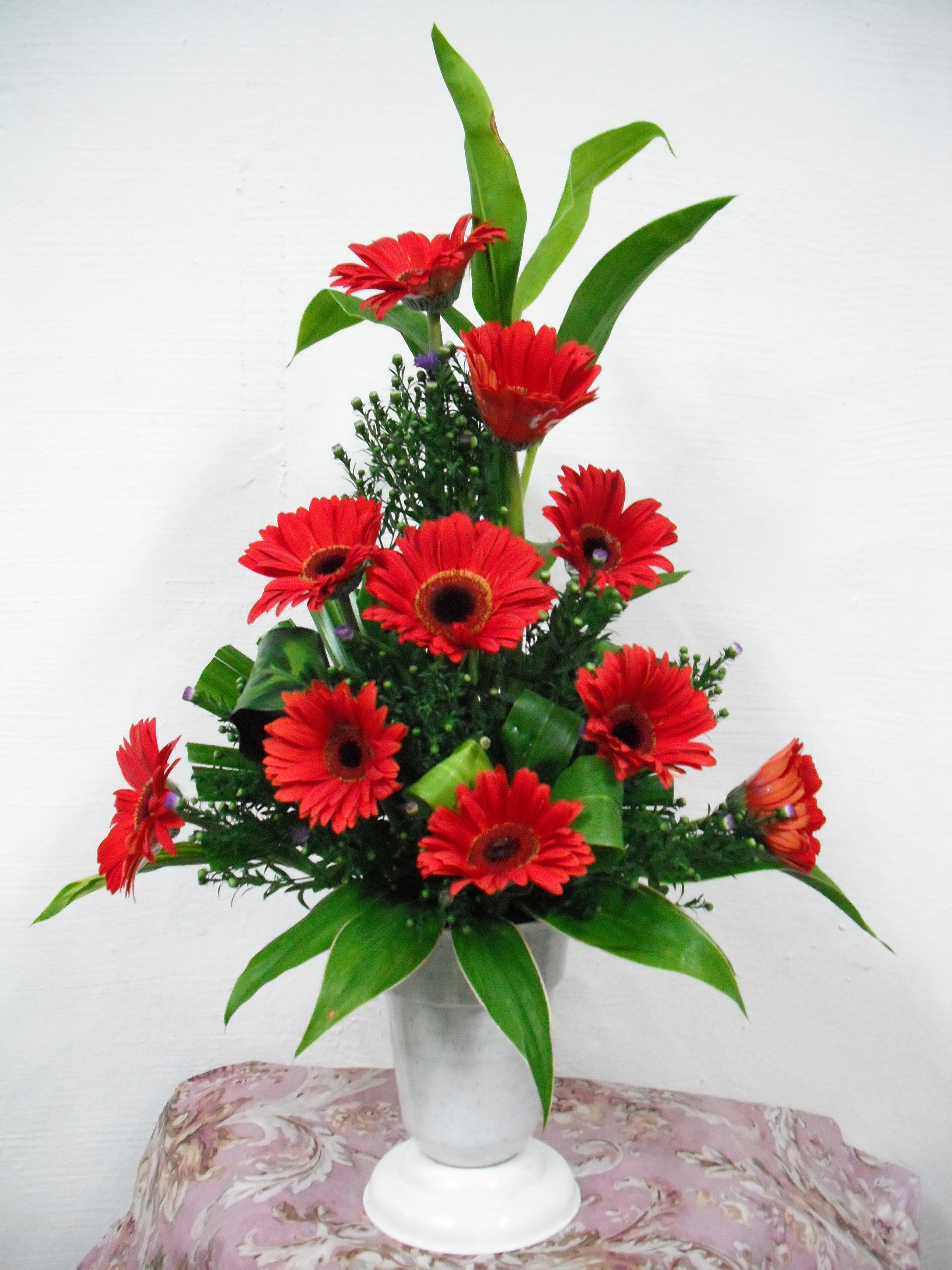 Red Floral Arrangement Weddings Cheap Wedding Reception Ideas Homemade