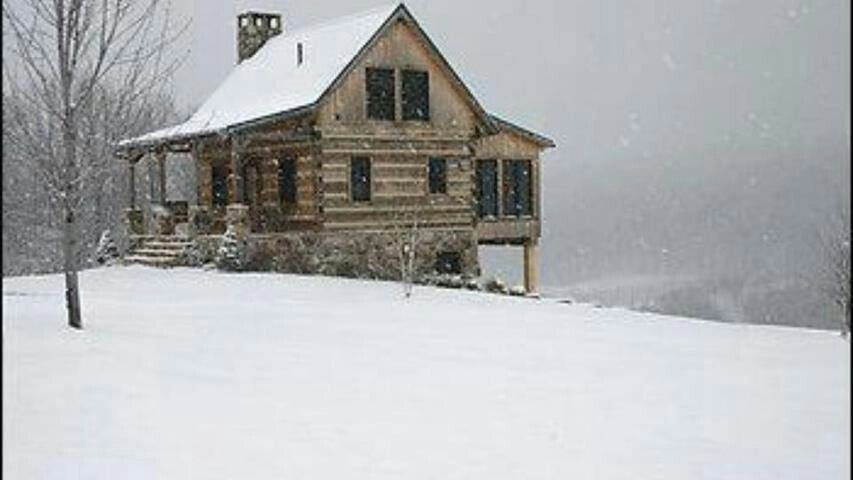 Cabin in the snow winter wanties pinterest for Winter cabin plans