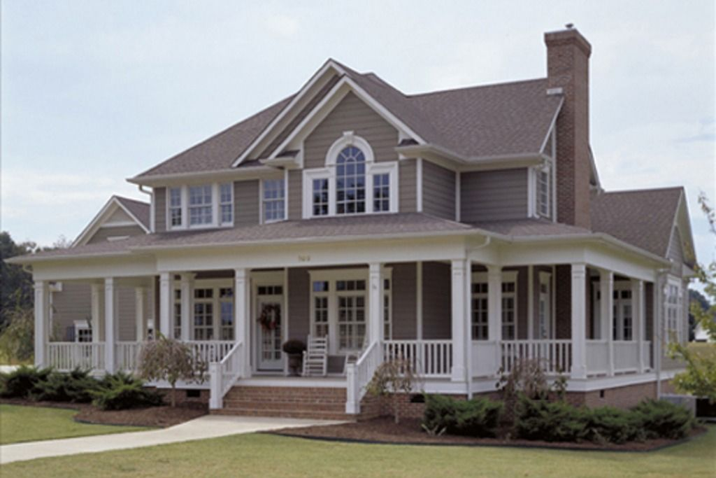 Nice House With Wrap Around Porch Architecture Pinterest