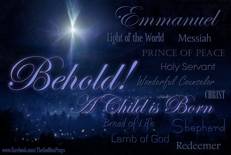Behold a child is born christmas and easter smilecards from the god
