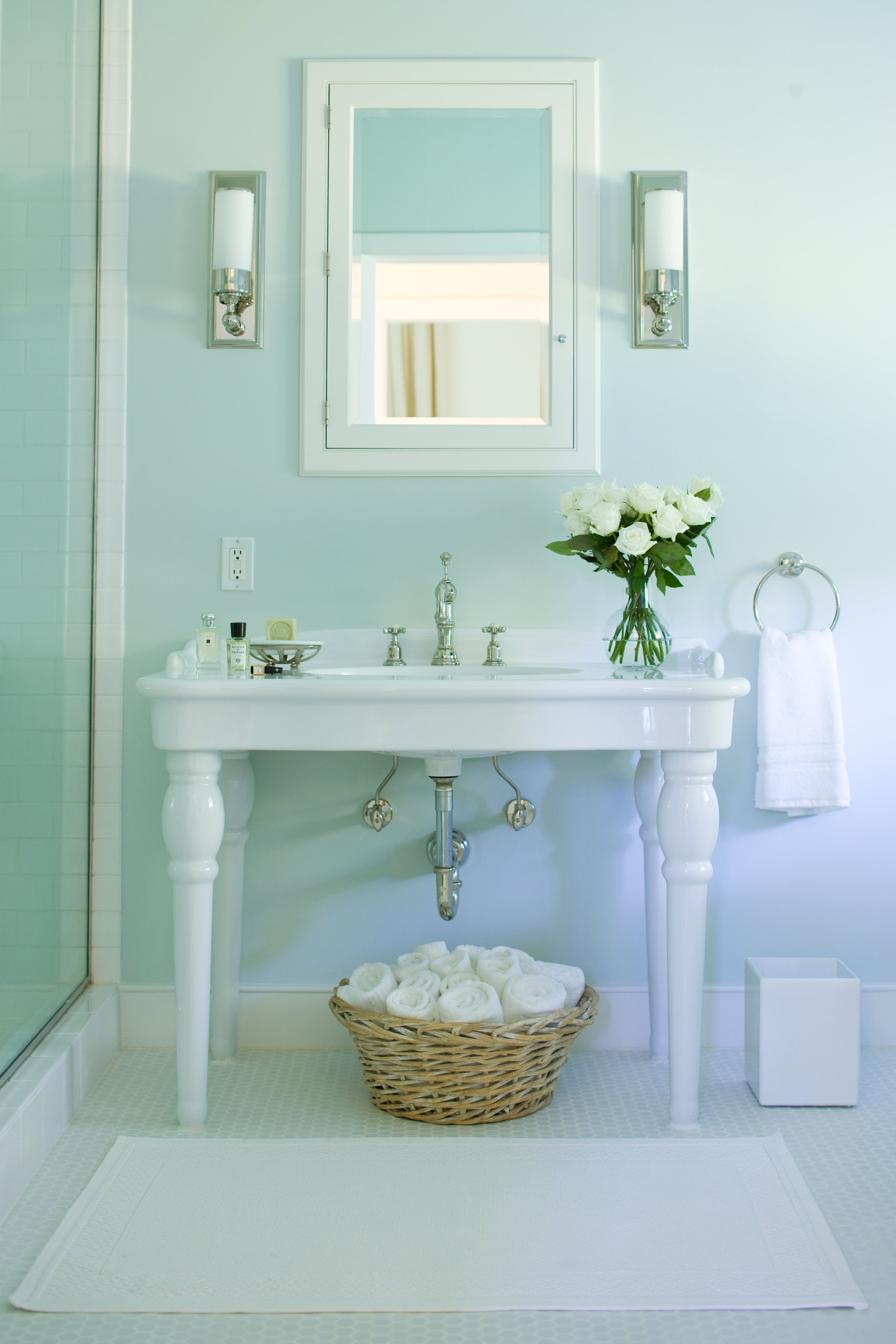 Master bath vanity bathrooms powder rooms pinterest for Powder room bathroom vanities