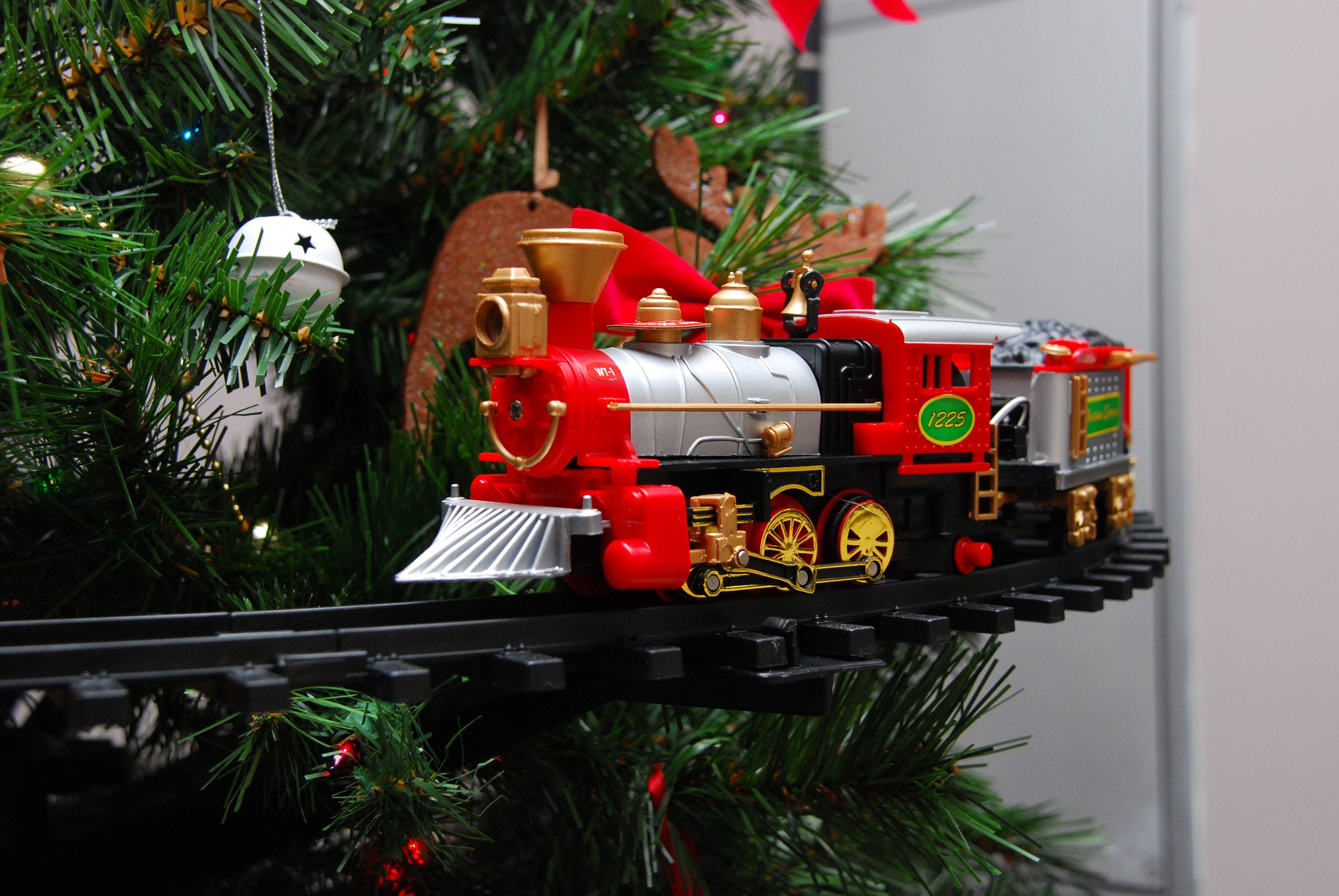 christmas tree train set instructions