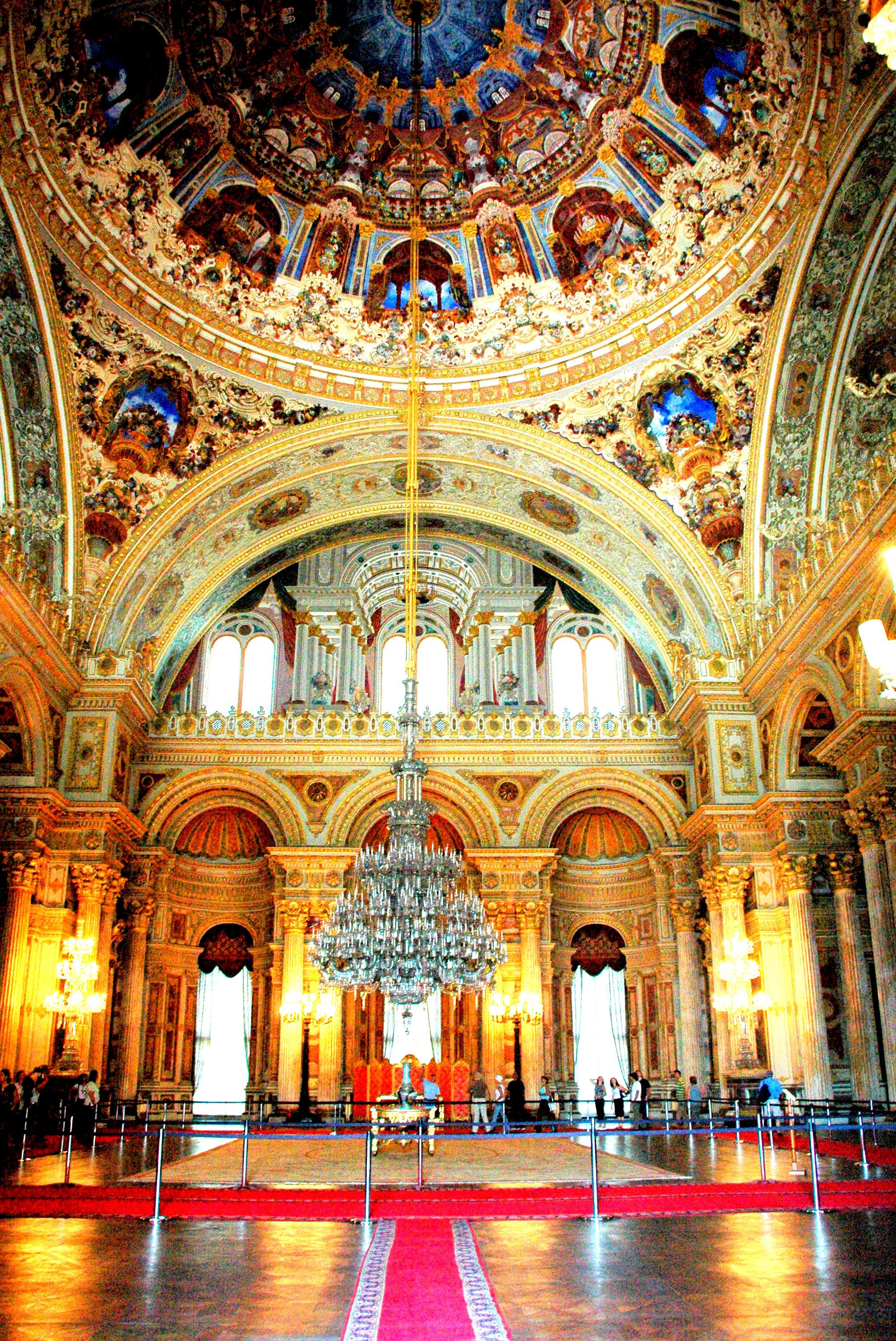Dolmabahce Palace -Istanbul Turkey-  Beautiful Color ...