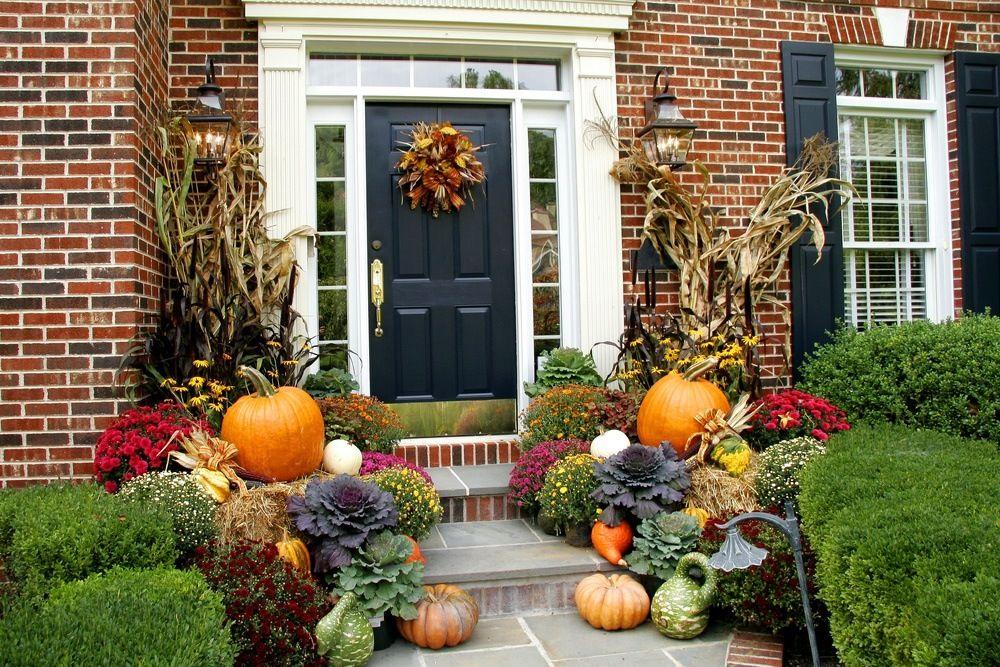 Fall Front Porch Decor Fall Thanksgiving Pinterest