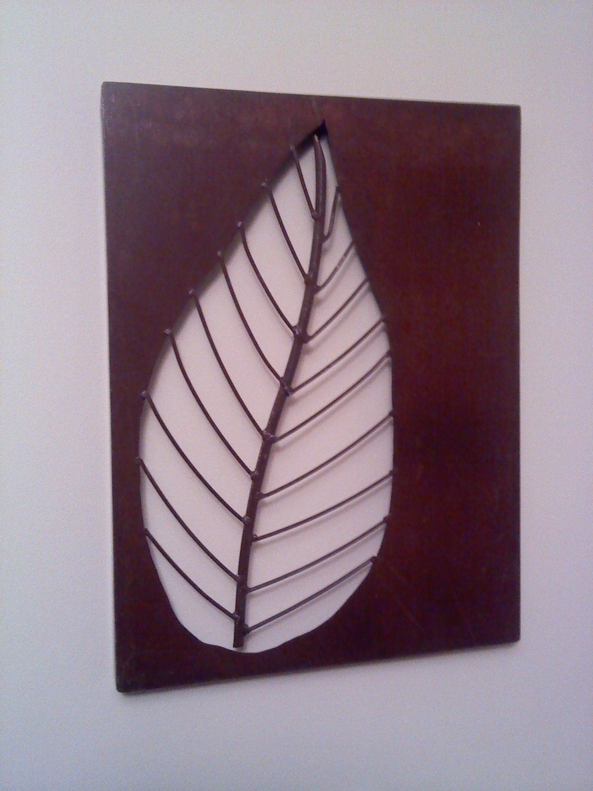 Metal wall art leaf ideas for the iron patch pinterest for Metal leaf wall art