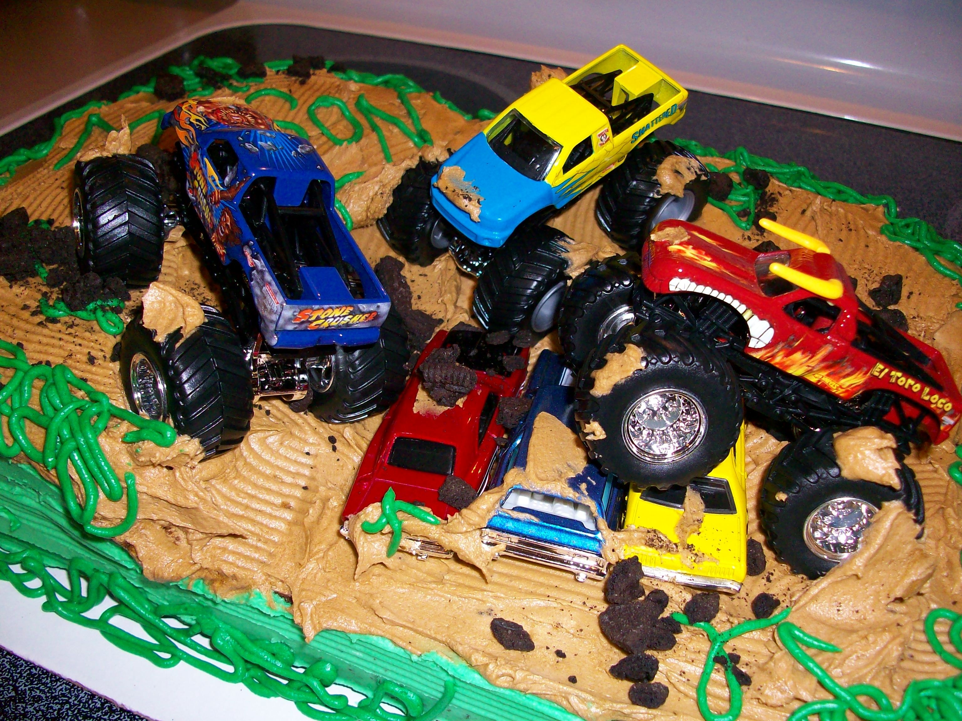 Boy Birthday Cake Monster Truck Image Inspiration of Cake and