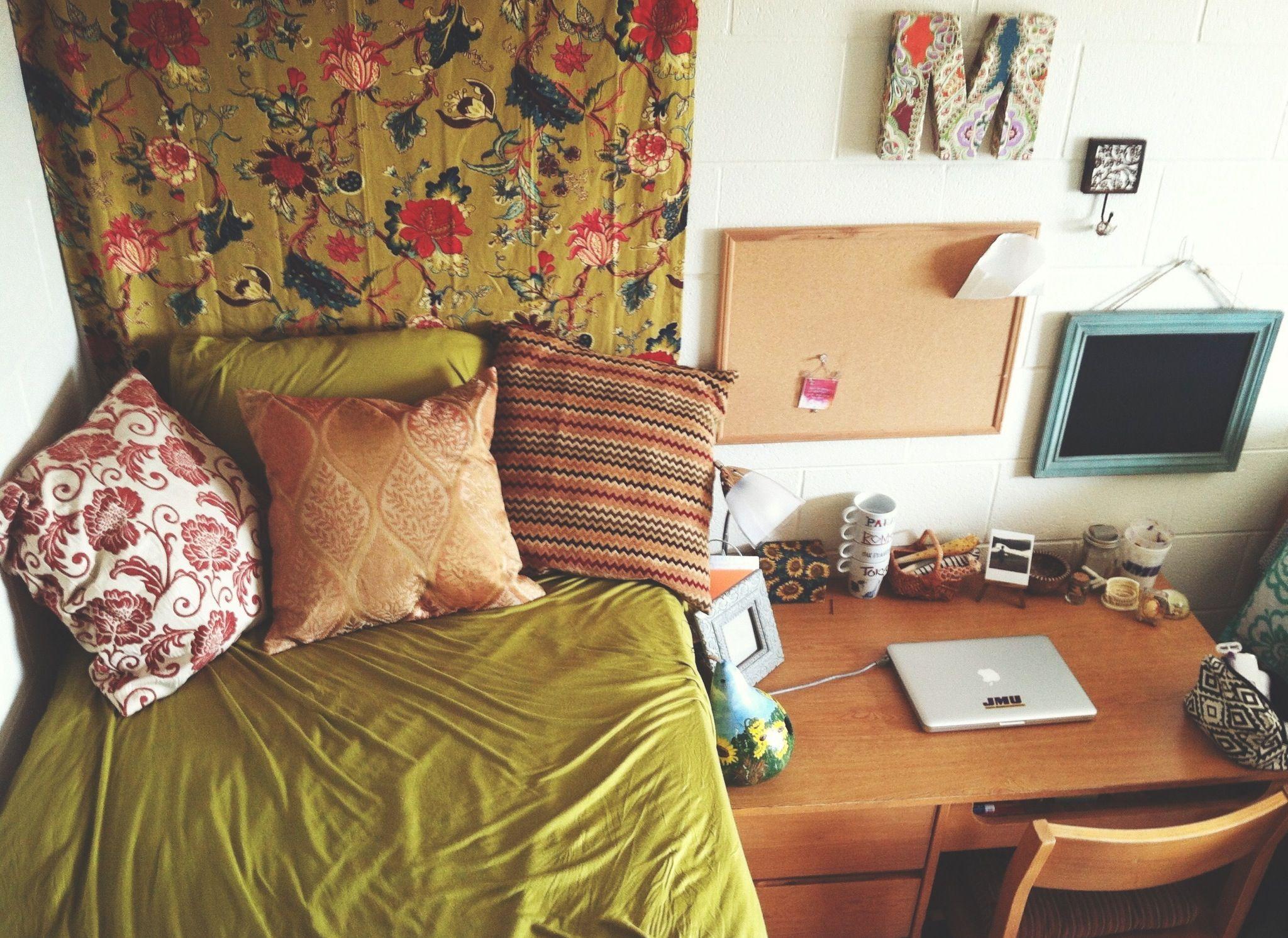 My dorm room at JMU #boho #dorm #college  ~ 071352_Boho Dorm Room Ideas