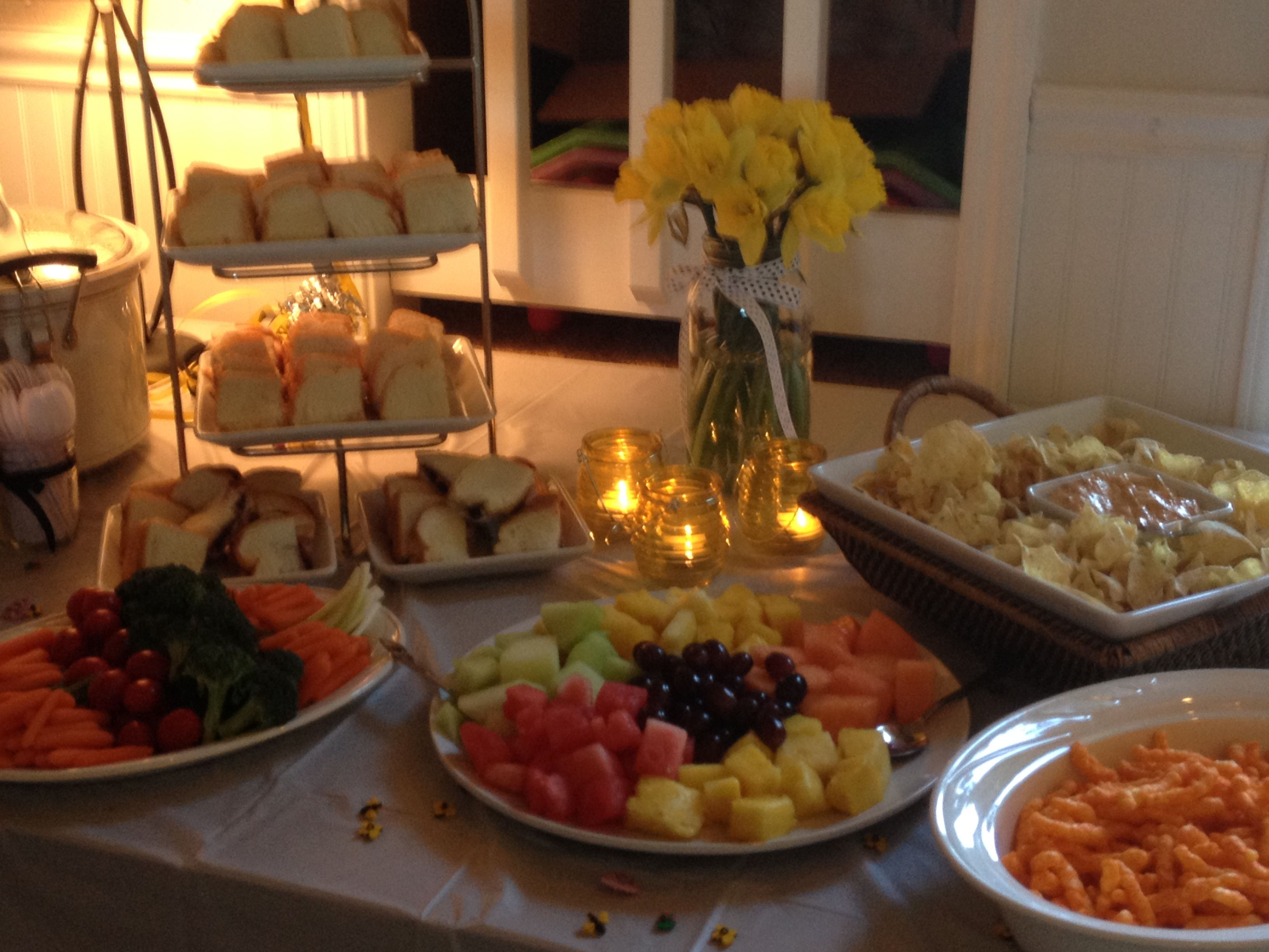 bumblebee baby shower food table baby pinterest