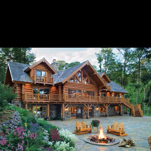 Log Cabin Dream Home Home Design Ideas Pinterest