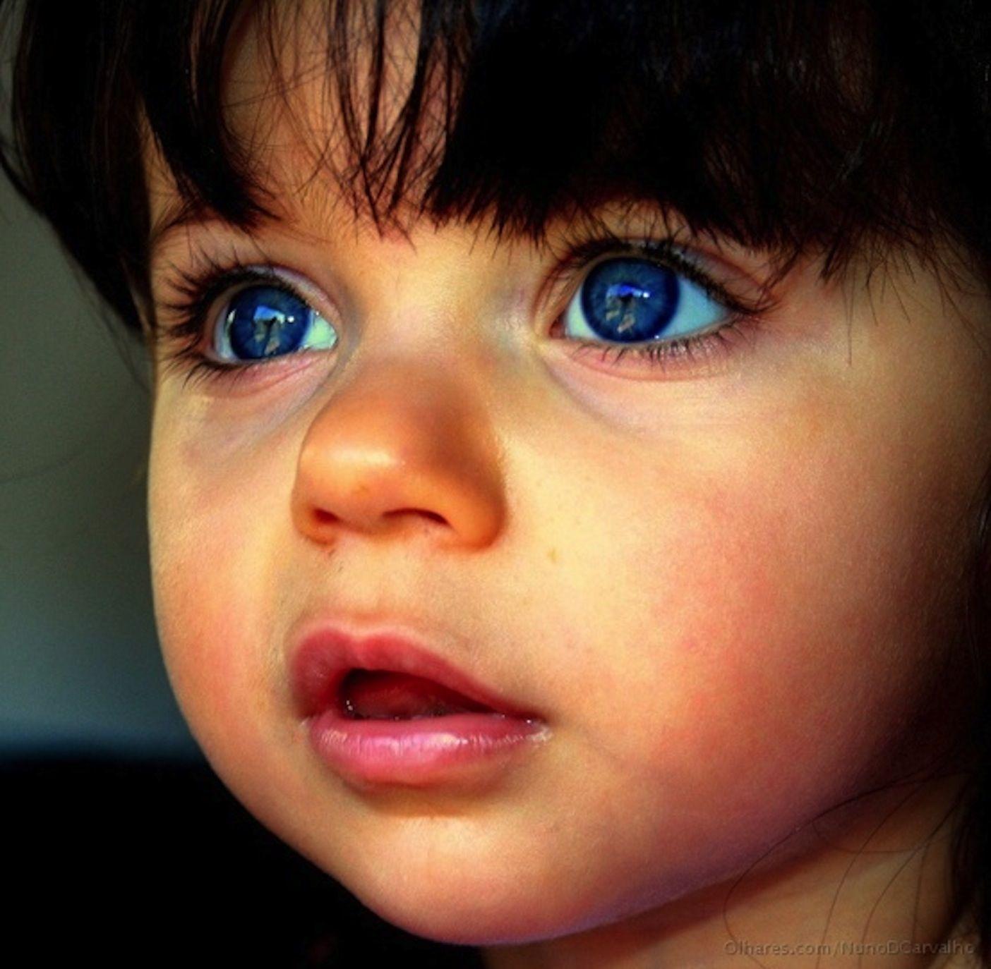 Большие глаза у ребенка фото