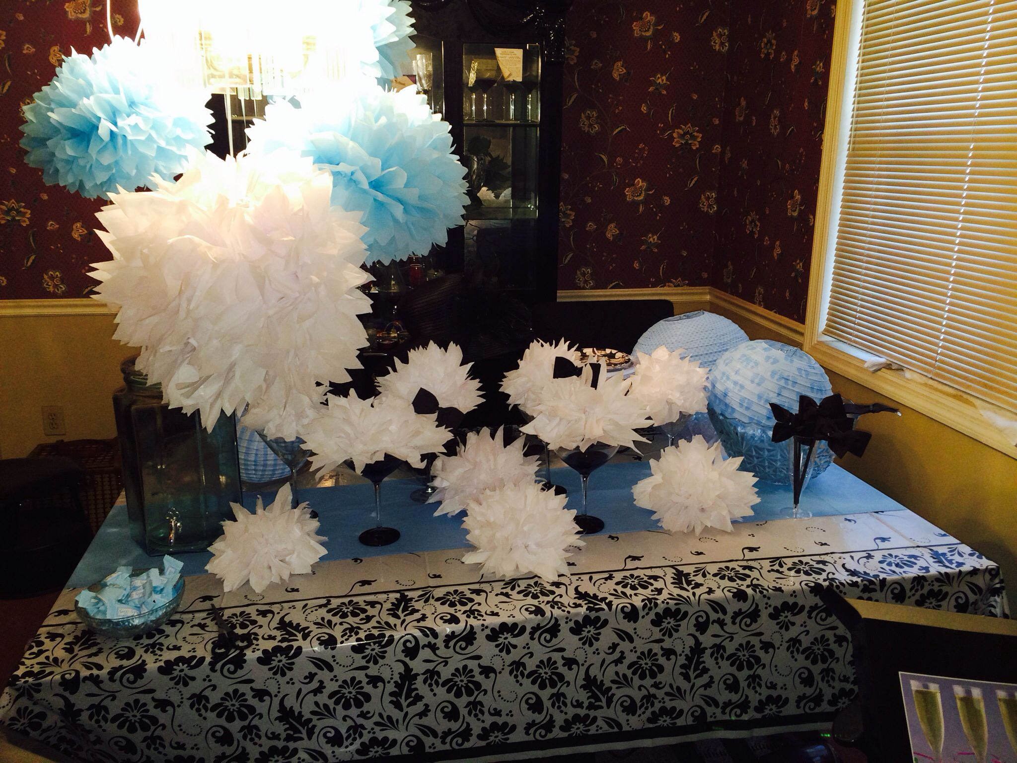 bow tie baby shower decoration summertime spring too pinterest